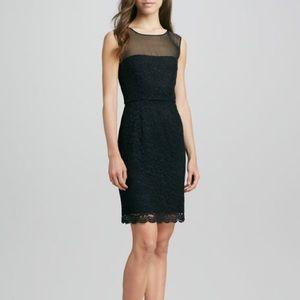 Diane Von Furstenberg Nisha Sheer Lace Dress LBD